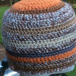 Orange bamboo brown toned Beanie Halloween hat